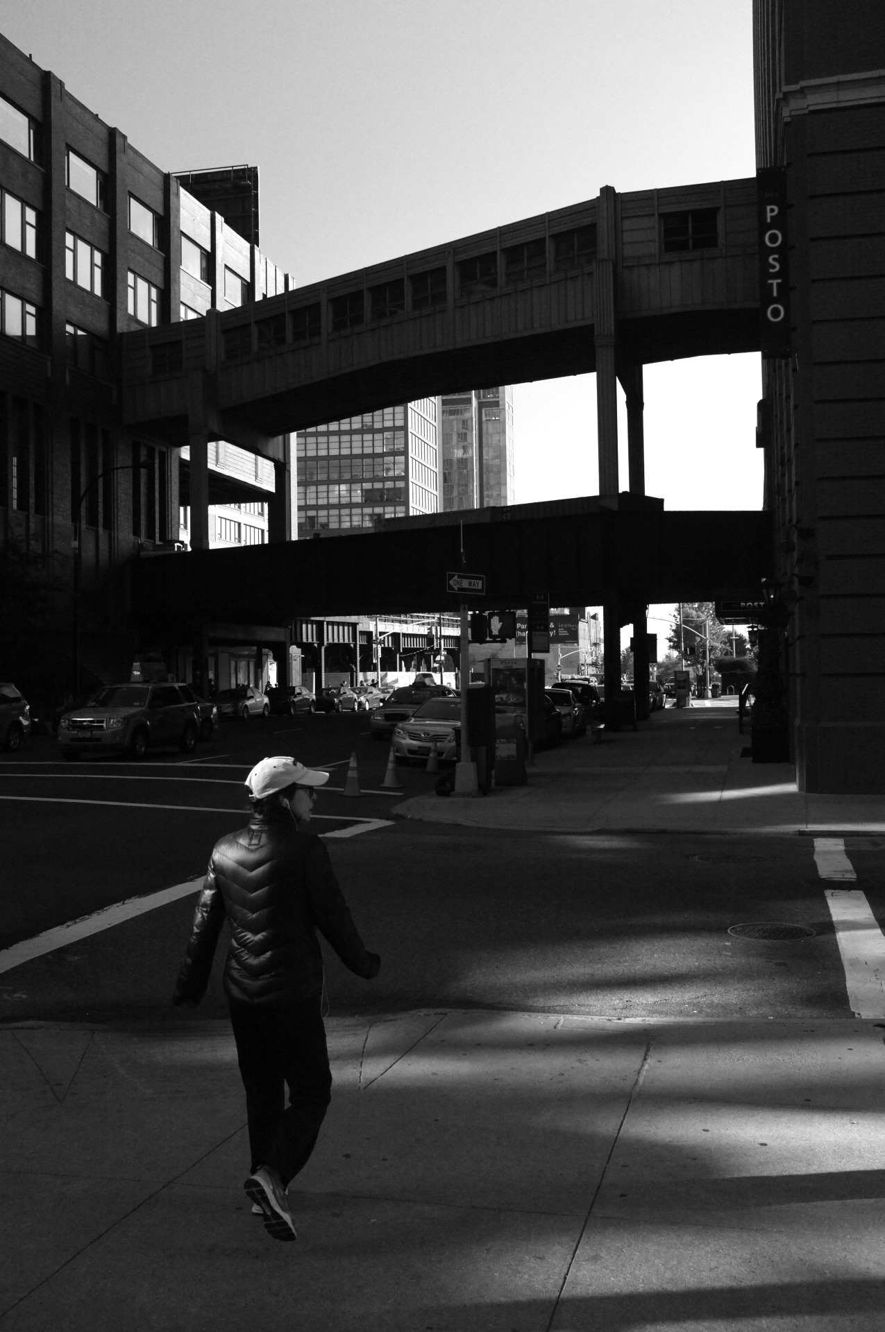 "bagnostian:  ""buenos dias, got to go"" chelsea, nyc. (Fuji X100)"
