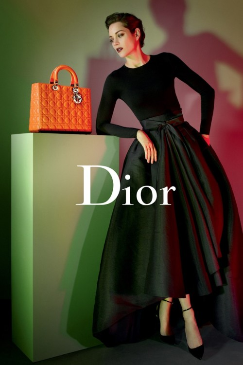 Marion Cottilard by Jean-Baptiste Mondino for Lady Dior Handbag Pre-Fall 2013 Campaign   Via FGR