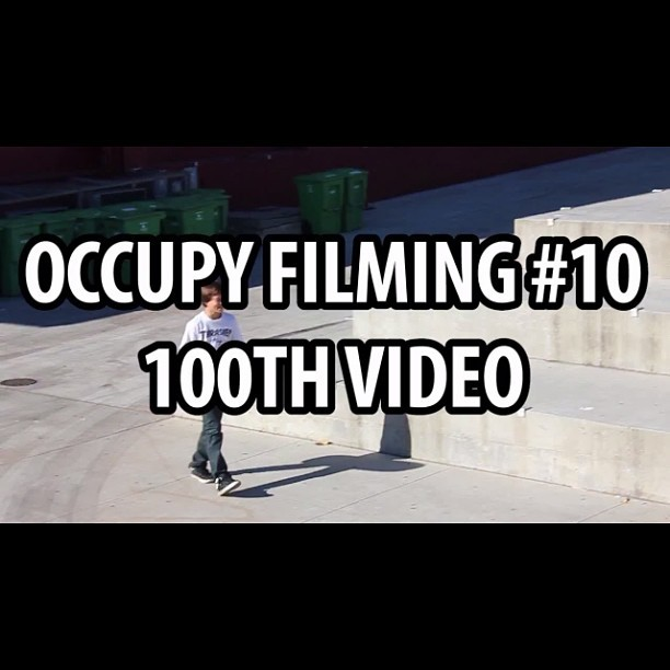 Occupy Filming #10 this is our 100th video and the last of the occupy filming series please go watch and a big thank you to everyone who watches our videos at RainyBaySkates #occupyfilming10 #of10 #rainybayskates #skatelife #skateboarding #thankyouverymuch