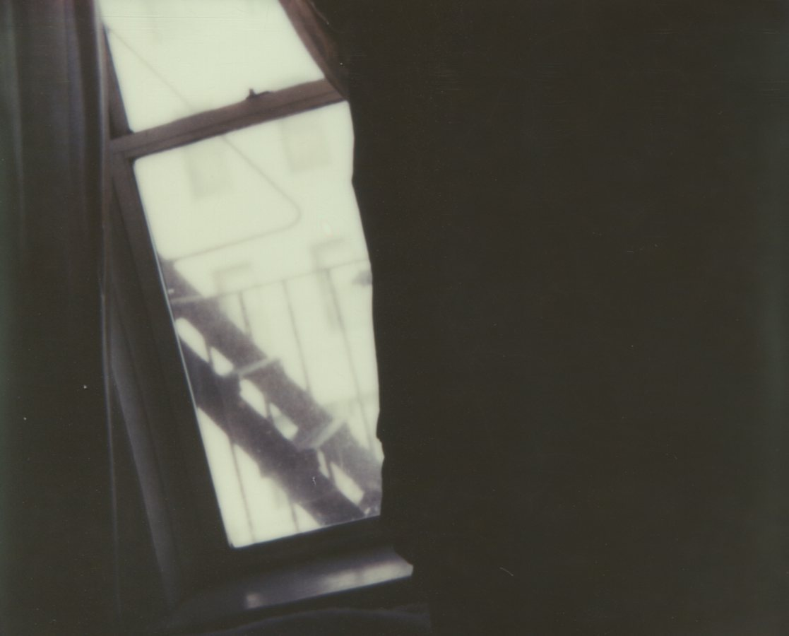 By The Window, Silhouette Self Portrait The IMPOSSIBLE Project, CP PZ680 Film © Anna Marcell