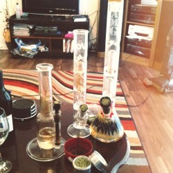 weedculture666:  Packed and ready to go. 😗💨#weed #bong #bongs