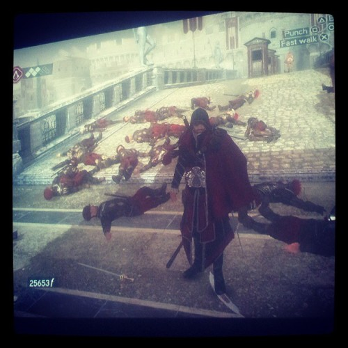 Killing bitches in sexy ways. #ac #AssassinsCreed #Brotherhood #ps3 #yolo #swag