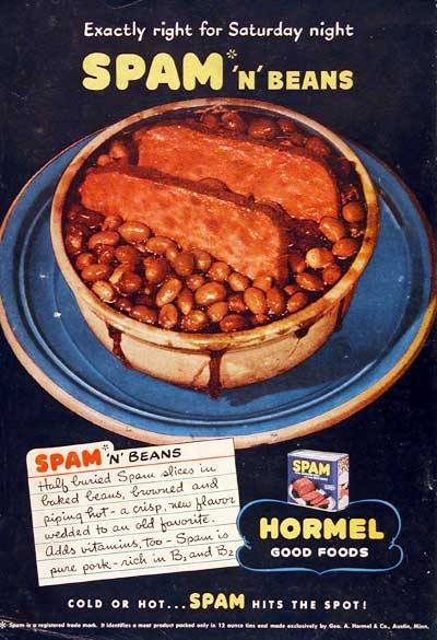 spam and beans1945(via adclassix)