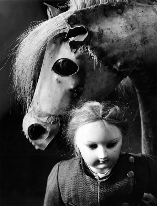 PAUL CAPONIGRO - Still Life.  Doll and Hobby Horse, Boston, 1964  via yama-bato: