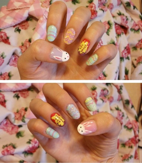 Easter nails! First real nail art in almost half a year. Man, have I ever missed this…