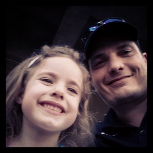 Me and my daughter enjoying the game.  (at Uni-Trade Stadium)