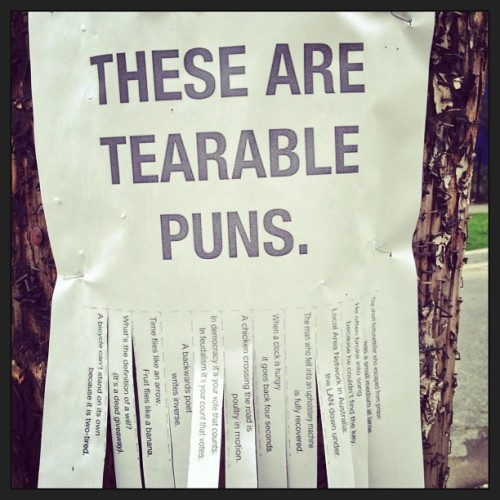 THESE ARE TEARABLE PUNS. (via rmtwrkr • Instagram)