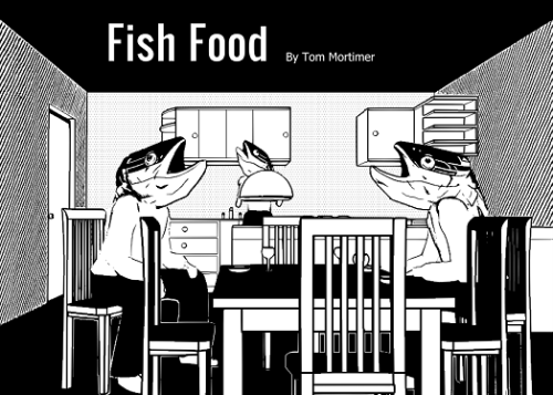 "Opening panel for ""Fish Food""."