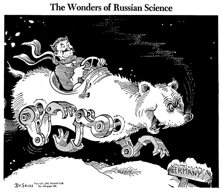 The Wonders of Russian Science, published by PM Magazine on January 16, 1942, Dr. Seuss Collection, MSS 230.