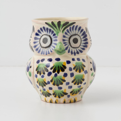 Hand painted #owl mug from @Anthropologie