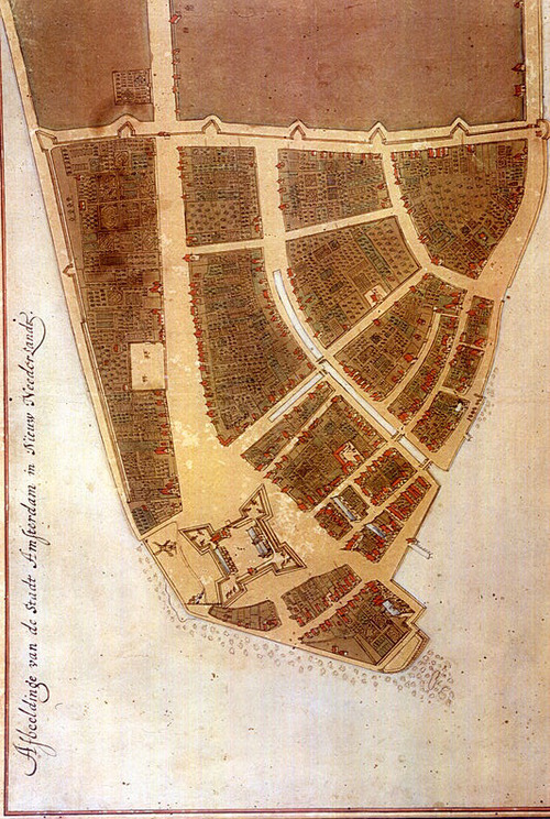 Gorgeous 1660 map depicting New York's humble start. Next, the story of how Manhattan got its famous grid. Also see Mapping Manhattan, hand-drawn personal memory maps by Neil deGrasse Tyson, Yoko Ono, Malcolm Gladwell, and 72 other New Yorkers. (↬ this isn't happiness)