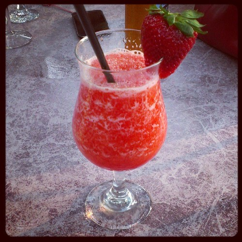 Strawberry daquiri anyone? ;) #delicious #strawberry #frozen