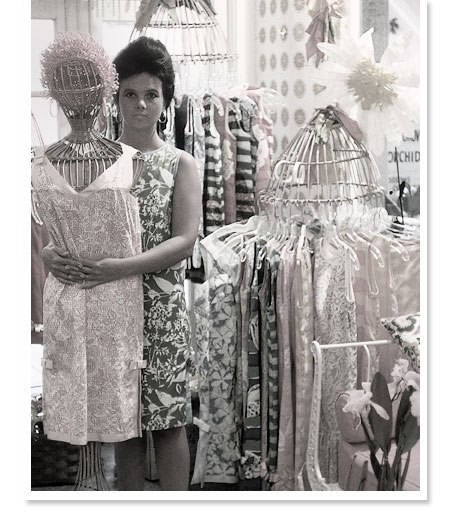 "jfklibrary:  Yesterday, fashion designer Lilly Pulitzer passed away at the age of 81. According to the Lilly Pulitzer website, Pulitzer's famous ""Lilly dress"" became a phenomenon when Pulitzer's former classmate, Jacqueline Kennedy, was photographed wearing one of her dresses whilst on vacation. As Pulitzer once said, ""Jackie wore one of my dresses — it was made from kitchen curtain material — and people went crazy. They took off like zingo. Everybody loved them, and I went into the dress business."""