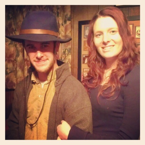 My #western man (: Had fun shooting the movie today.