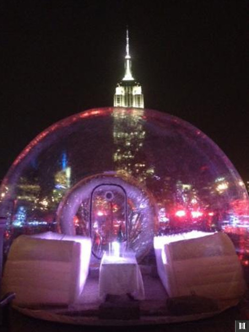 NYC MUST DO: A Rooftop Igloo Bar New York City ...