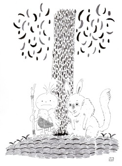 """Guardians of the Forest""  Here's a newly inked version of a pencil drawing from a while ago."