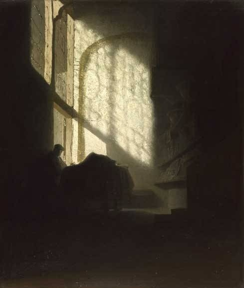 darksilenceinsuburbia:  Rembrandt van Rijn. A Man in a Room.