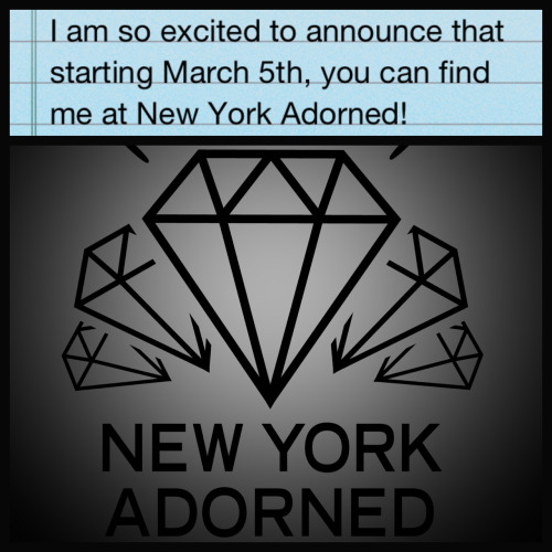 Happy to announce that I'll be at New York Adorned starting March 5th! Please contact the shop at 212-473-0007 to set up appointments for fun tattoos!!