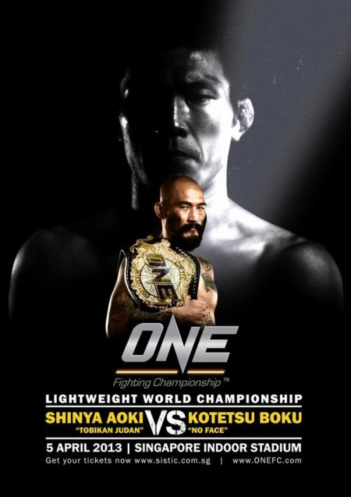 One FC 8: Boku vs Aoki I will shit bricks if Boku knocks out Aoki. The card will also feature Eddie Ng (imo he's going to be China's best fighter w/ the most amount of upside) vs Aoki victim, Arnaud Lepont. Yusup Saadulaev will take on former #1 contender Leandro Issa in a bantamweight showdown. Manhoef is also supposed to be on the card. I hope that Yoshiyuki Nakanishi and another flyweight title eliminator/BJ Kojima vs TBA are added as well. Kotetsu Boku vs. Shinya Aoki  Eddie Ng vs. Arnaud Lepont Leandro Issa vs. Yusup Saadulaev Melvin Manhoef vs TBA