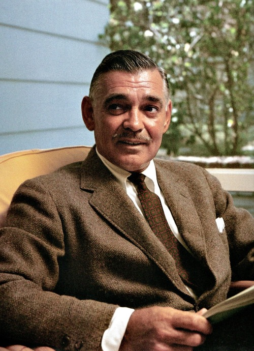 Clark Gable photographed by Sid Avery, October 1957.