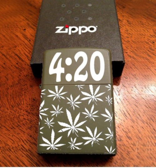 customgrinders:  4/20 zippo lighter