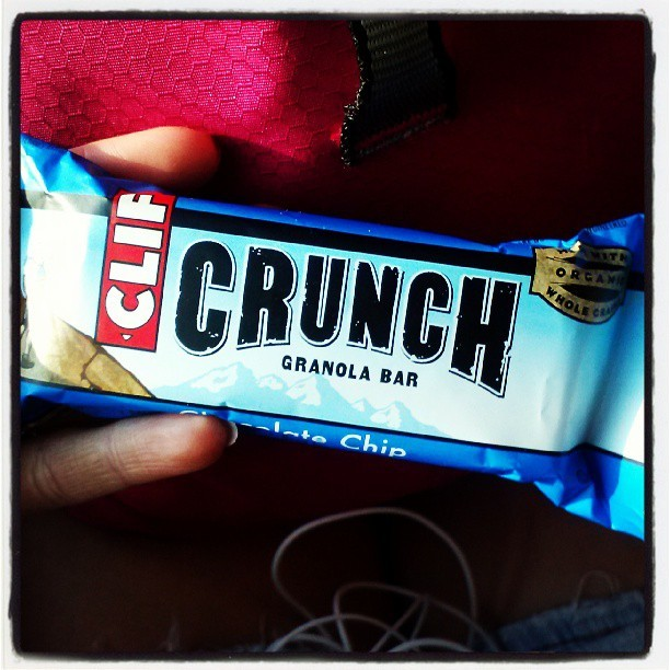 My new obsession #clif #crunch #chocolatechip