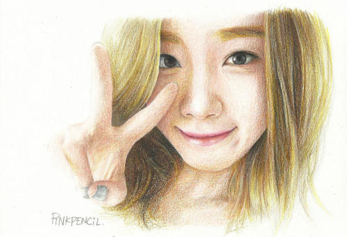 darkhand340:  [Fanart] Taeyeon V by PINK PENCIL