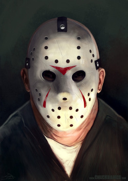 "chucksdoodles:  First time i drew the ""human"" Brooker/White version of Jason. So i guess i'm not repeating myself, right? Right?"