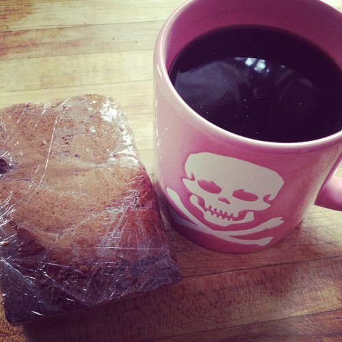 Brownie & black coffee. Totally acceptable breakfast for an #artist #TeamChocolate