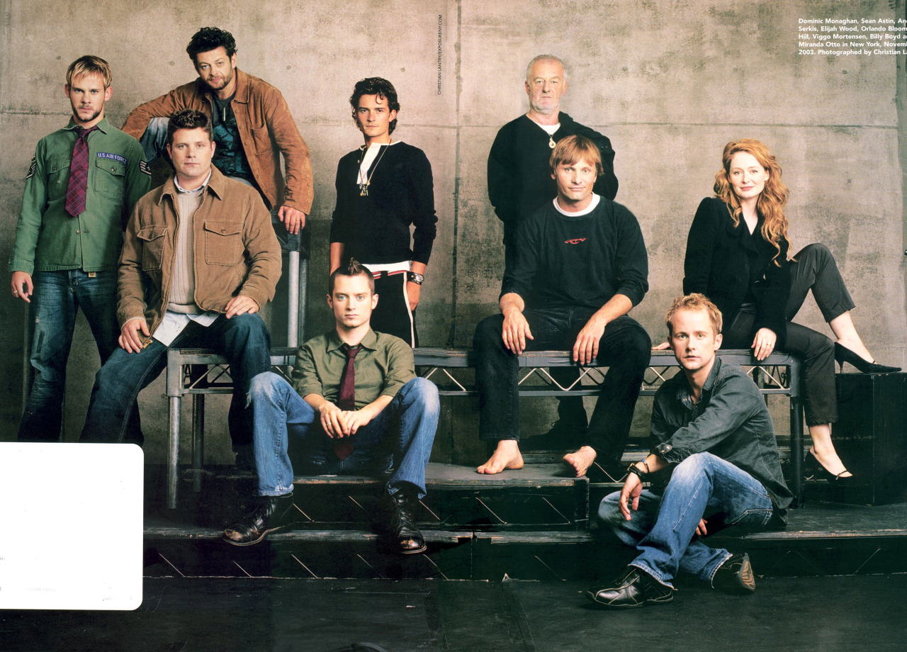 Dominic Monaghan, Sean Astin, Andy Serkis, Orlando Bloom, Elijah Wood, Bernard Hill, Viggo Mortensen, Billy Boyd and Miranda Otto