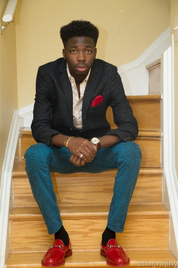 blackfashion:  Ifedapo , Ottawa  Outfit: Topman Bracelet And Ring - cartier Shoe- Gucci Watch - Piaget