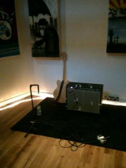My guitar set up from Friday's recording session - I'm a reverb addict!!