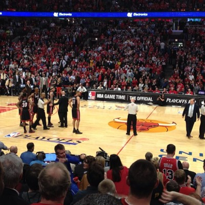 It's a brawl up in here. #Bulls (at United Center)