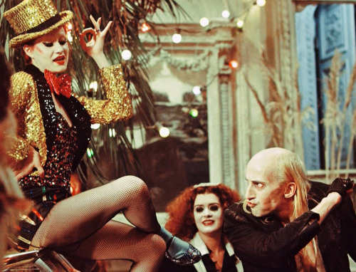 vintagegal:  The Rocky Horror Picture Show (1975)  This is a fantastic photo. I'm hoping to play Magenta or Columbia or one of the Trannies when a local theater does Rocky this season!