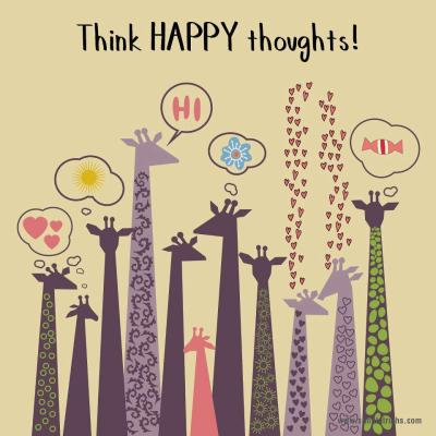 pencintabahagia:  Think HAPPY thoughts :D