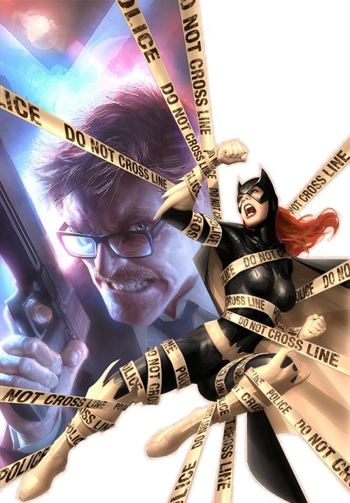 youngjusticer:  Crossing the line. Batgirl, by Alex Garner.