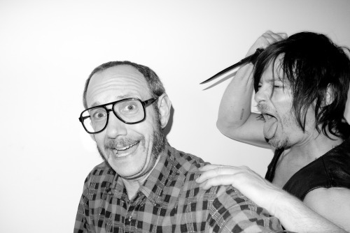 terrysdiary:  Me and Norman at my studio #1
