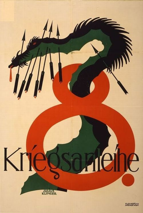 "Julius Klinger ""8 Kriegsanleihe (8th War Loan) propaganda poster, 1918"