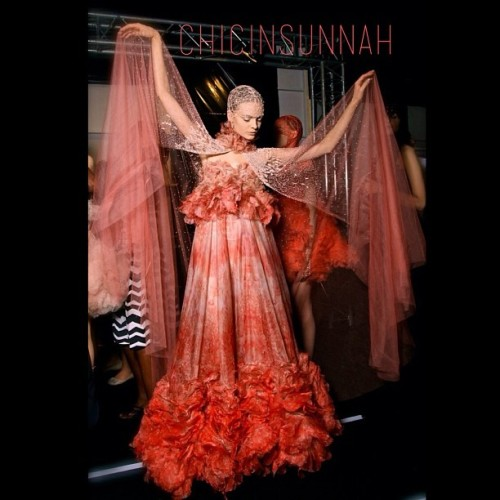 #ChicBeat Alexander McQueen s/s 2012 #hijabspiration #fashion #chicinsunnah