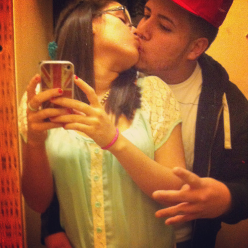 Me & my husband lol <3 I love him I swear I do February 2O 2O11 ^