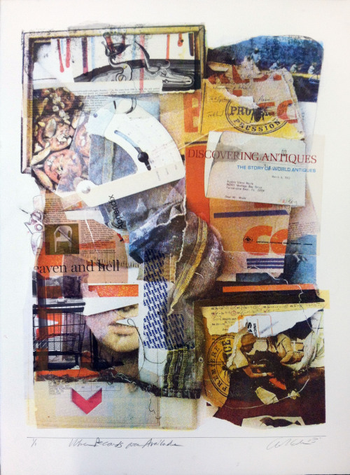 When Records Are Available Silkscreen, Collage 2012