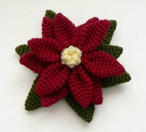 crochet free crochet pattern yarn handmade poinsettia flower