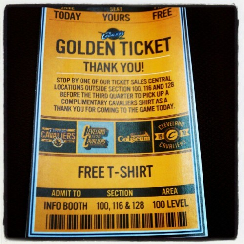 I got the golden ticket!