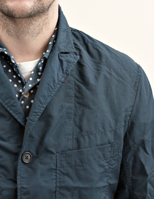 ladmusicien:  Engineered Garments S/S'13 Navy Nylon Bedford.