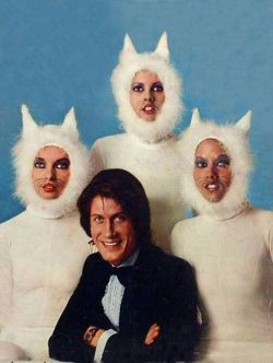 peoplewithcats:  Jacques Dutronc & cat girls