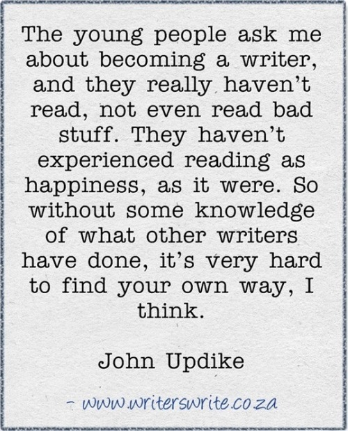 John Updike says it all