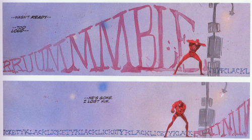 Daredevil: Love and War. Art by Bill Sienkiewicz.