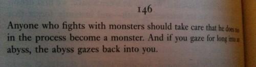 abyss the void monster nietzsche friedrich nietsche ubermensch philosophy
