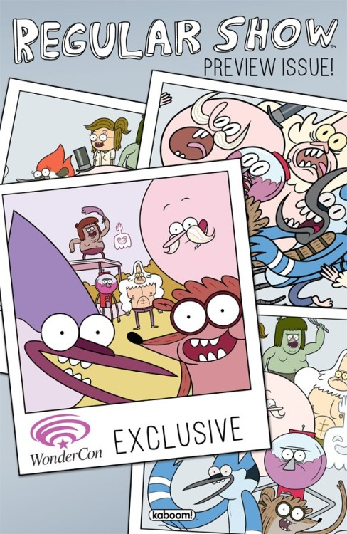 Boom Announces 'Regular Show' Preview Comic For WonderCon By Chris Sims I think it's safe to say that all of us here at ComicsAlliance are pretty excited about Boom Studios' Regular Show comic, slated to launch next month with the creative team of K.C. Green and Allison Strejlau. The only problem is that, well, we don't really want to wait until April to actually get our hands on it.Fortunately, there's an answer: Regular Show fans heading to Anaheim this weekend's WonderCon can pick up an exclusive preview book, featuring Green, Strejlau and a bonus short story by Brian Butler and Maarta Laiho. READ MORE
