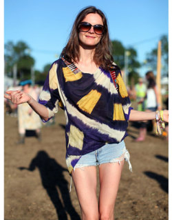 Festival Fashion: Model Anouck Lepere at Glastonbury Music Festival. Source: Photo by Mr. Newton for Harper's Bazaar